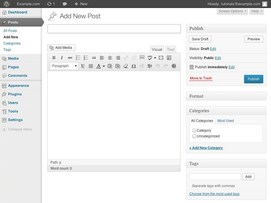 wordpress-post-new